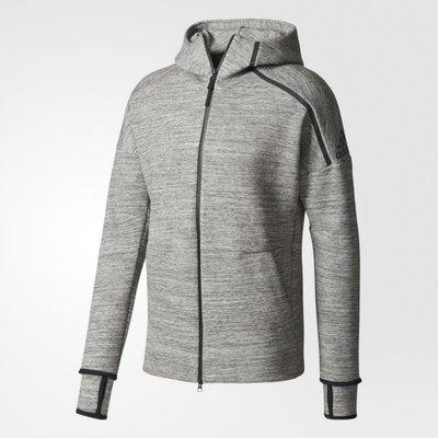 Look 鹿客 adidas Z.N.E. STORM HEATHER 淺灰連帽外套 男款 CG1484