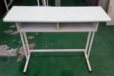 宏品二手傢俱館 台中2手家具賣場 E90516淺綠2人課桌椅 補習班桌椅 學生桌椅 兒童桌椅 大學椅 排椅 等待椅