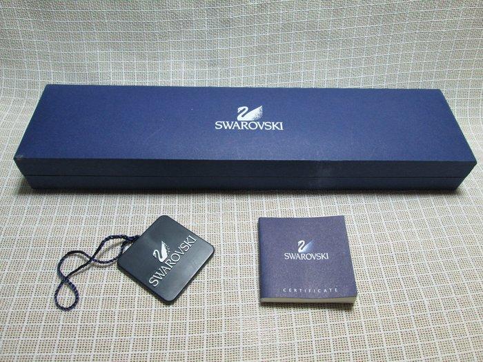 奧地利頂級水晶品牌【SWAROVSKI】施華洛世奇 藍色 LOGO 長紙盒 禮盒 可放手鍊項鍊
