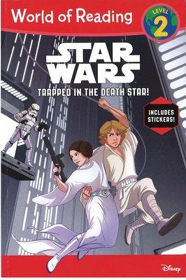 *小貝比的家*STAR WARS TRAPPED IN THE DEATH STAR!/ L2/平裝/3~6歲/貼紙書