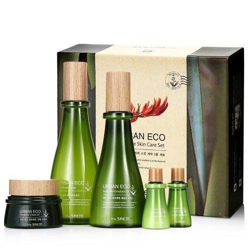 【韓Lin連線代購】韓國 THE SAEM  - Urban Eco Harakeke 亞麻保濕護膚5件保濕組