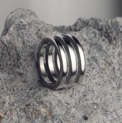 精緻小店.Fine shop--朋克男士戒指時尚潮人韓版鈦鋼個性指環霸氣單身潮男復古高檔戒指