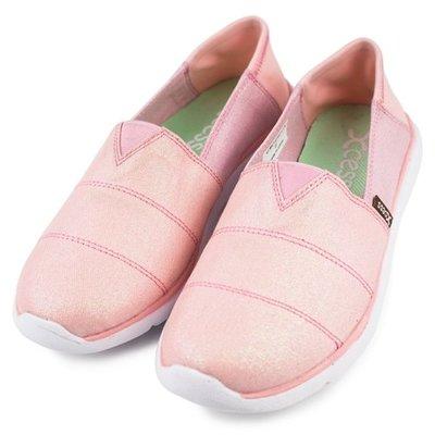 =CodE= XCESS CLASSIC 帆布休閒鞋(星空銀粉粉紅) GW049-PIN TOMS 娃娃鞋 樂福鞋 女
