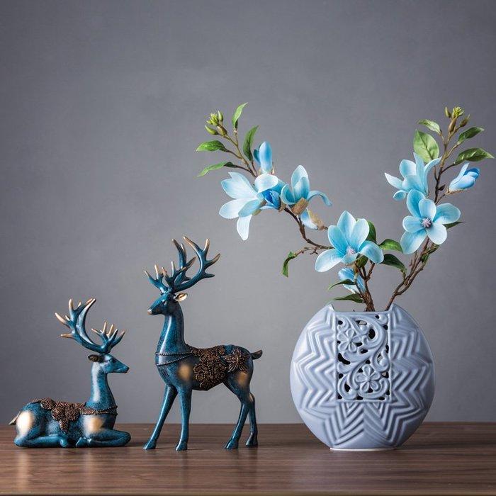 〖洋碼頭〗北歐風格家居飾品客廳酒櫃裝飾品擺件創意個性陶瓷鹿擺設簡約現代 wsj309
