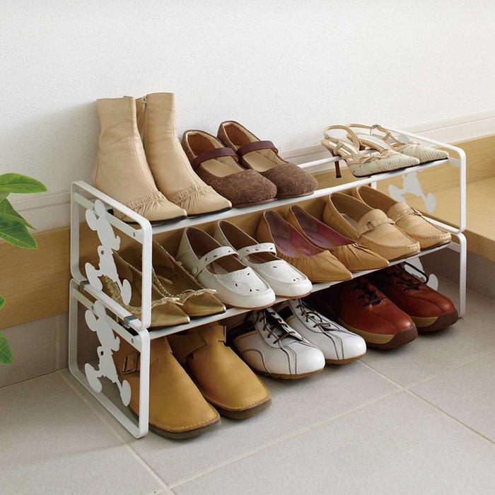 迪士尼Diseny《預購》米奇 伸縮式鞋架~日本正品~共2色~心心小舖