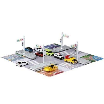 【美國媽咪】 TAKARA TOMY TOMICA 路口地圖車輛組 多美小汽車 生日  TM89915台中可