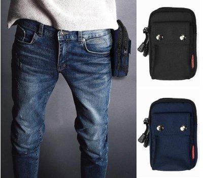 日韓系街頭風 6吋手機 防潑水泥龍 雙釦 雙層大容量腰包 手機包 腰掛包 手機袋 非PORTER