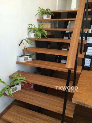 【緬甸柚木-TWOOD】直拼樓梯踏板/直拼樓梯扶手桌板/家具/集成材/拼板/實木