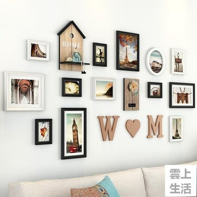 YEAHSHOP 現代簡約照片牆裝飾歐式客廳臥室相框相冊牆個性創意掛牆牆上組合223966Y185