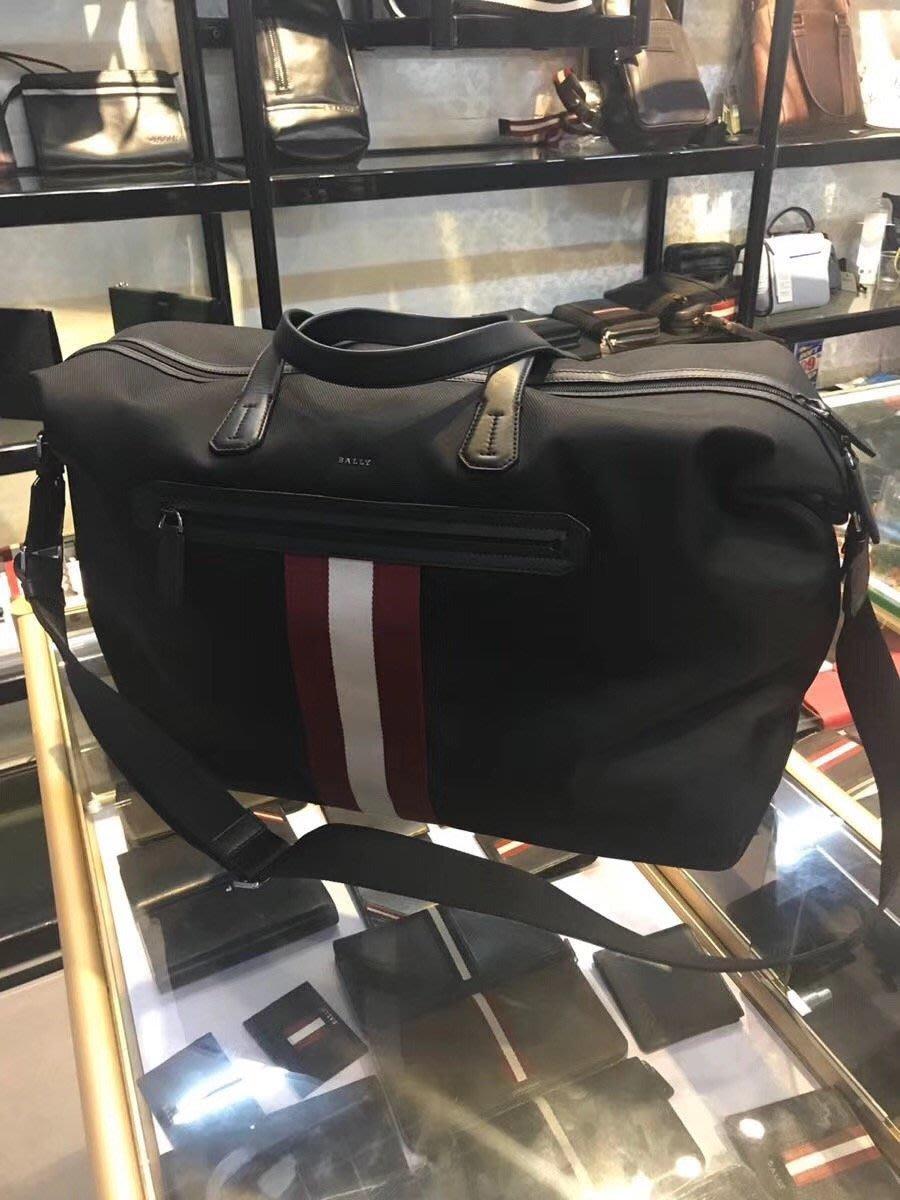 【全新正貨私家珍藏】BALLY 新款防水布旅行袋/男士手提斜挎包