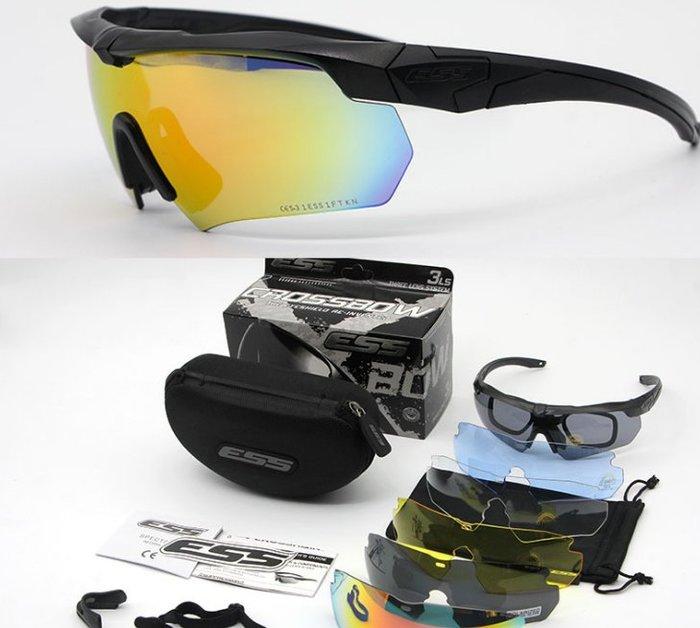 【購物百分百】軍版Crossbow戰術防彈護目鏡軍迷CS射擊眼鏡騎行偏光六片裝