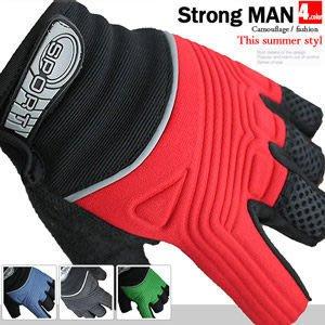 【推薦+】壓印跑酷健身手套E006-0014運動短手套.半指露指手套.防滑止滑手套.自行車手套