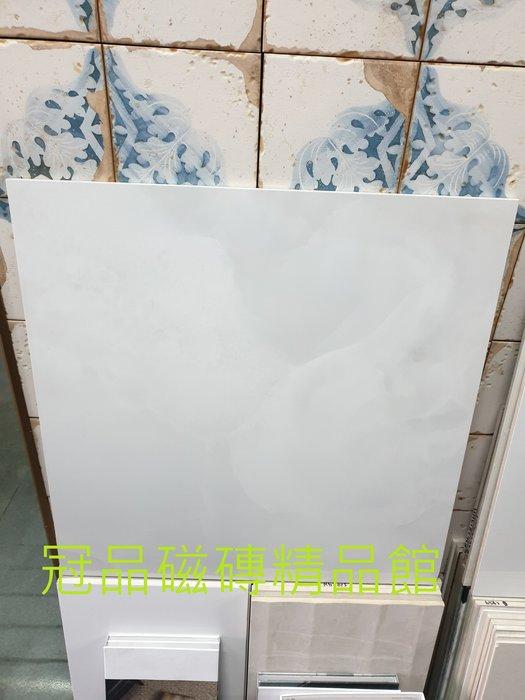 ◎冠品磁磚精品館◎進口精品 全釉拋石英磚-冰晶白玉石–60X60CM(另有80X80及80x120)