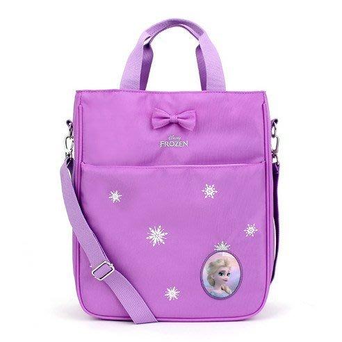 ♀高麗妹♀韓國 Disney FROZEN II 冰雪奇緣2 可背可提2用雙層手提袋/便當袋/補習袋/文具袋G款(預購)