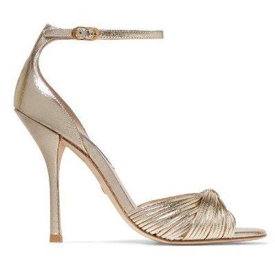 專櫃 品質 Stuart Weitzman  SW 女款 金屬色 宴會 高跟凉鞋 NAP/NET-A-PORTER