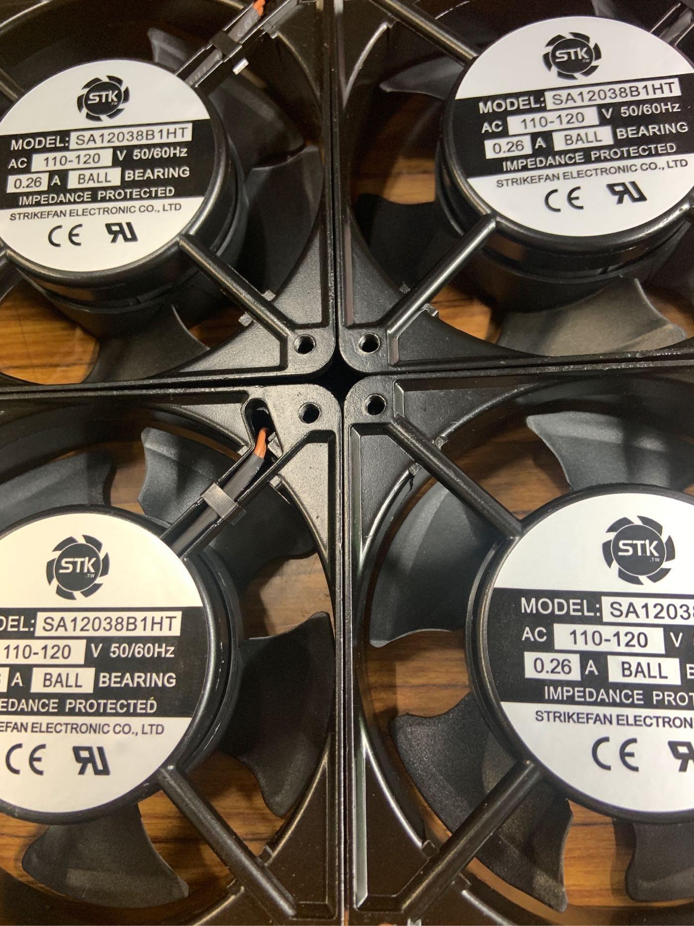 培林風扇 滾珠-軸承-培林-4吋120x38mm散熱風扇-12公分-4吋110V