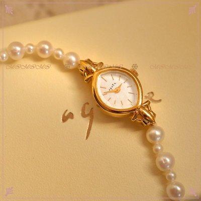 【黛西精品】agete 日本專櫃正貨絕版_淡水珍珠菱形白貝手錶_超美