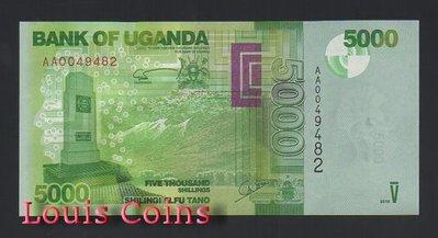 【Louis Coins】B518-UGANDA--2010烏干達紙幣5.000 Shillings