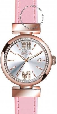 展示品 Invicta 22816 Wildflower Quartz Crystal Accented Leather Strap Women's