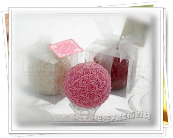 ◎花語人造花資材◎ *大玫瑰花球蠟燭禮盒*3色.婚禮小物~送客禮~攝影~婚宴布置