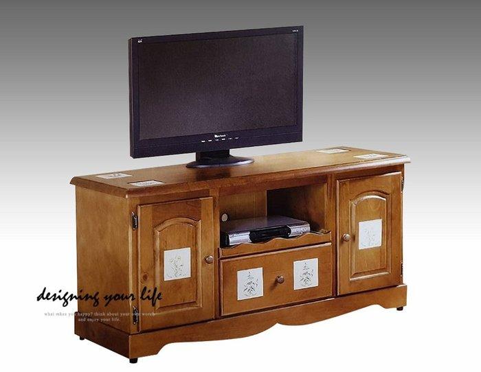 【DYL】聖馬丁磁磚實木4尺電視櫃、矮櫃、長櫃(全館免運費)