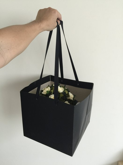 ~TRULY~ 手提式花束提袋 黑色 -不凋花 永生花 乾燥花 鮮花 珠寶 多肉 花藝 手