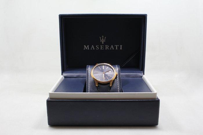 【台中青蘋果】MASERATI Attrazione款 寶藍色錶面寶藍色皮革錶帶款 #15395