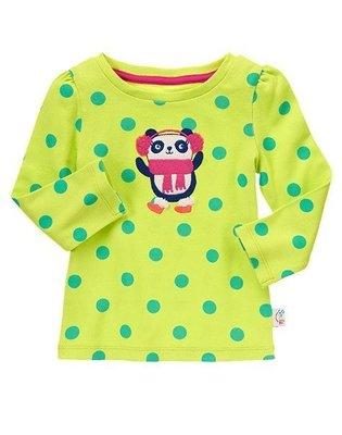 美國童裝GYMBOREE正品Polka Dot Panda Tee 圓點熊貓長袖上衣6~12m...售100元