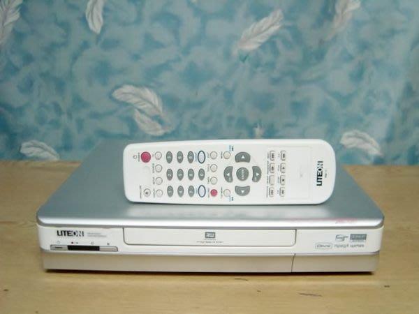 【小劉二手家電】LITEON DVD錄放影機, 附原廠搖控器A1006GX型,壞機也可修/抵!