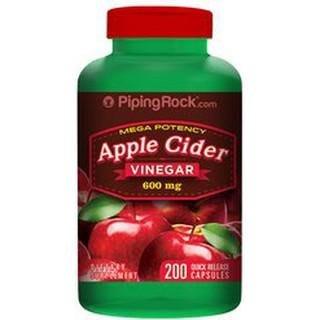 【天然小舖】Piping Rock Apple Cider 蘋果醋 600mg 200顆