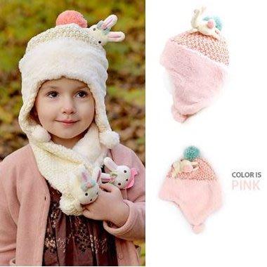 『※妳好,可愛※』韓國童鞋 韓國 winghouse 立體小兔 帽子 護耳帽 兒童帽子 寶寶帽子 韓國帽子