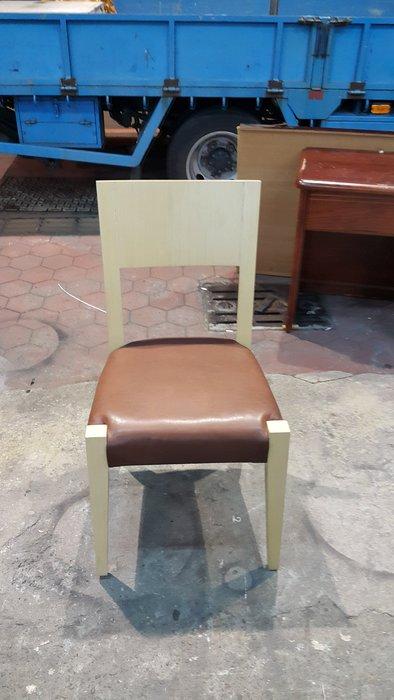 樂居二手傢俱 全新中古家具賣場*F0720EJJ 咖啡皮餐椅*餐椅 電腦椅 洽談椅 會議椅 辦公椅 餐廳家具拍賣 餐桌