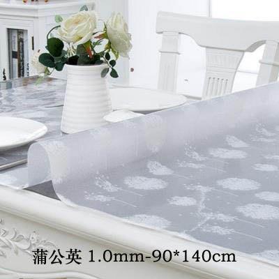 【1.0mm軟玻璃桌墊-90*140c...