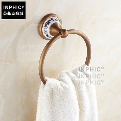 INPHIC-陶瓷 仿古 毛巾環 銅 毛巾架 毛巾壁掛擺飾 歐式毛巾環 衛浴_S1360C