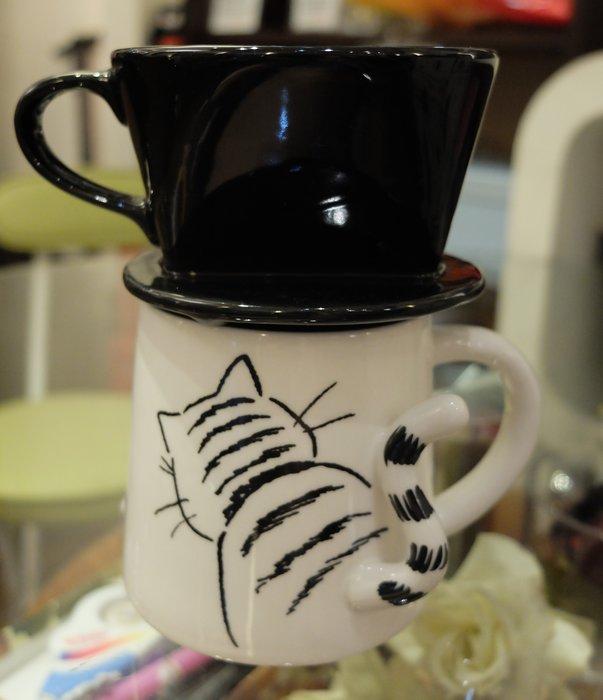 {喜朵} hit coffee~2020最新 陶瓷咖啡濾杯組(黑白貓).限量100組加送日本大廠濾紙100張