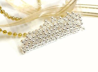925純銀珠定位珠3mm(1顆3元)DIY材料-手作蠶絲蠟線-手鍊項鍊-編織-飾品玉石圓珠幸運繩-散珠2-4牛手創 高雄市