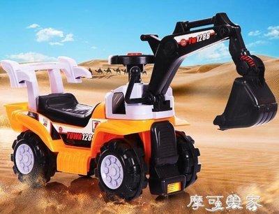 ZIHOPE 挖土機兒童挖掘機電動滑行挖土機可坐可騎男孩玩具車寶寶大號鉤機工程車ZI812