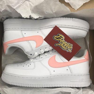 女鞋 BEETLE NIKE AIR FORCE 1 W 白粉 荔枝皮 AH0287-102 23 24.5 25CM