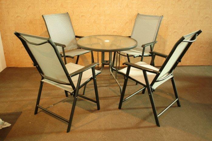 大高雄冠均二手貨家具(全省收購)---【全新】戶外庭院休閒 玻璃圓桌 聊天桌 洽談桌 泡茶桌 咖啡簡餐桌