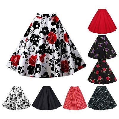 妮妮韓國服飾店~Vintage bust posed the a-line skirt of bitter fleabane