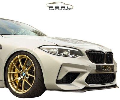 【樂駒】Perl Carbon Design BMW M2 F87 Competition 前下擾流 碳纖維 加裝 套件