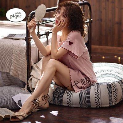 超好看日本代購Gelato Pique睡衣裙衣女夏季短袖性感薄款甜美可愛家居服