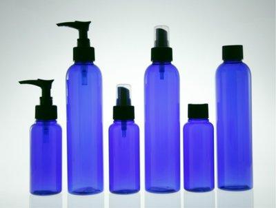 【瓶罐區】 寶藍色塑膠平口瓶250ml ☆艾麗花草集☆