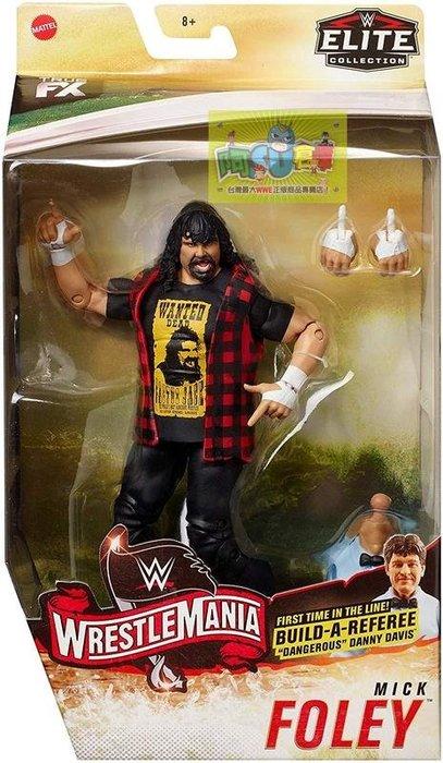 ☆阿Su倉庫☆WWE Mick Foley Wrestlemania 36 Elite Figure 摔角狂熱精華版人偶