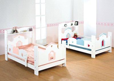 [歐瑞家具]JB-357-2 愛丁堡多功能兒童單人床/書架床/不含床墊/系統家具/沙發/床墊/茶几/高低櫃/1