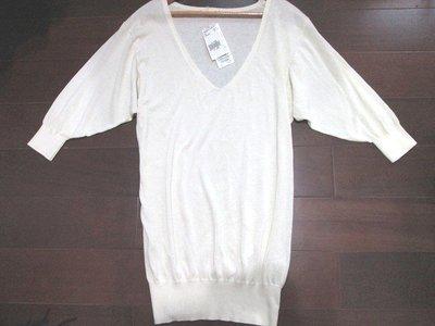 全新日本頂級品牌Fragile米白kiito 自由區 ICB款長版針織上衣洋裝38號 訂價6480