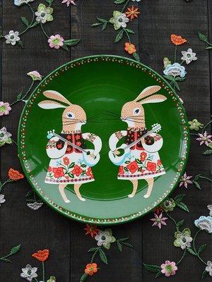 分隔盤 兒童餐具 骨瓷 埃蘭迪爾北歐鄉村風格釉下彩陶瓷餐具西餐盤家用菜盤早餐點心盤子 不同套餐請議價