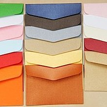 [C.M.平價精品館]卡片信封/10*7公分多色珠光精緻小信封 藍/黑/白/粉/橙/紅/綠/藍//牛皮色