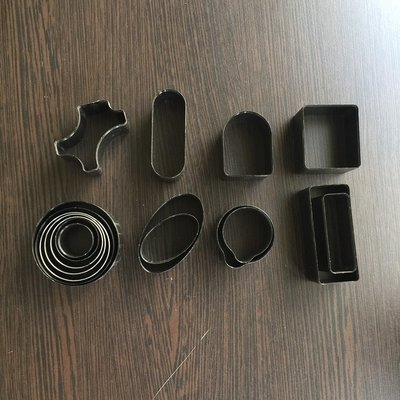 [二手]皮革刀模17件組 附收納盒 (需搭配手壓台或壓模器具)