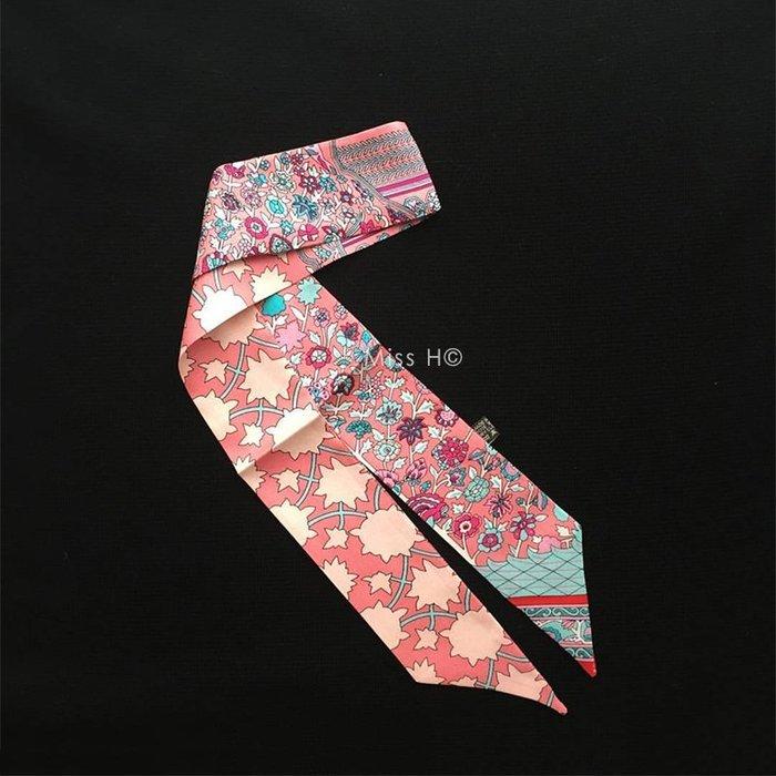 TY59-新款Twilly。波斯地毯系列。小愛經典印花100%純絲絲巾 CDC  H小愛包手環耳環
